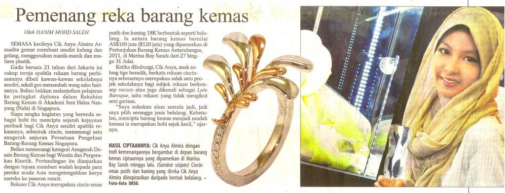 Berita Harian- 30 July 2011