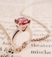 Petite Pink Tourmaline Solitaire