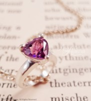 Petite Heart Amethyst Solitaire